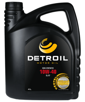 Масло DETROIL 10W-40 Semi-Synthetic (4л)